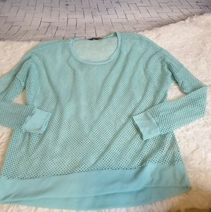 Ocean Drive open mesh beach coverup sweatshirt L